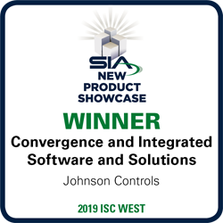SIA New Product Showcase Winner - 2019 ISC West